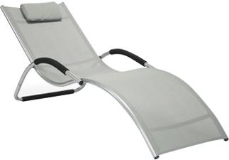 Шезлонг Sundays Brigo 770505 (серый) - общий вид