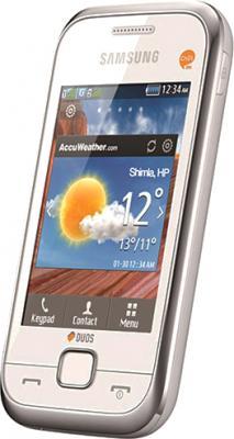 Мобильный телефон Samsung C3312 Rex 60 Duos Pearl White - общий вид