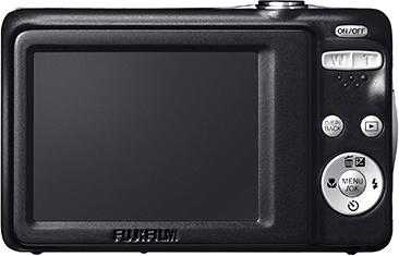 Компактный фотоаппарат Fujifilm FinePix JV500 Red - вид сзади