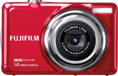 Компактный фотоаппарат Fujifilm FinePix JV500 Red - вид спереди