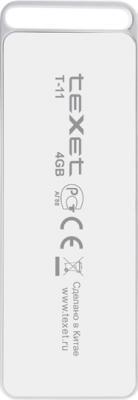 MP3-плеер TeXet T-11 (4GB) White - вид сзади