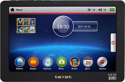 MP3-плеер TeXet T-939HD (4 Gb) Black - вид спереди