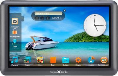 MP3-плеер TeXet T-950HD (8Gb) Blue - вид спереди