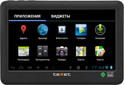 MP3-плеер TeXet T-990A (8Gb) Black - вид спереди