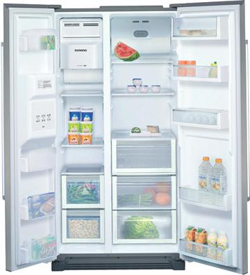 Холодильник с морозильником Siemens KA58NA45RU - внутренний вид