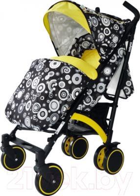 Детская прогулочная коляска Babyhit Rainbow Circles (Black/Yellow)