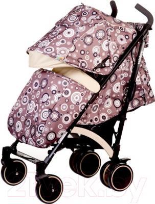 Детская прогулочная коляска Babyhit Rainbow Circles (Brown)