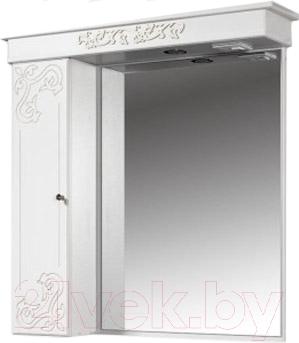 Шкаф с зеркалом для ванной Bliss Амелия 3 / 0455.11 (патина серебро)