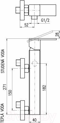 Смеситель Slezak RAV Loira LR580.5