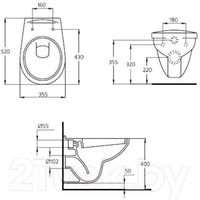 Унитаз с инсталляцией Ideal Standard W550101