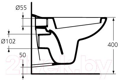Унитаз подвесной Ideal Standard Oceane W707301