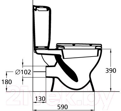 Унитаз напольный Ideal Standard Eurovit W908701