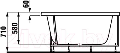 Ванна акриловая Laufen Mimo 140x80 (2215555)