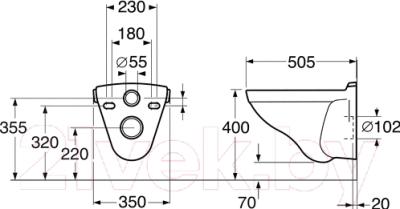Унитаз подвесной Gustavsberg Logic 5693 (56935501)