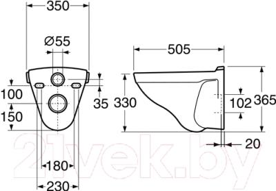 Унитаз подвесной Gustavsberg Nordic 2330 (GB112330001020)