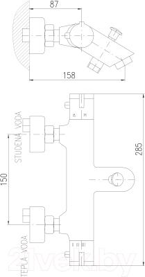 Смеситель Slezak RAV TRM54.5