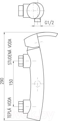 Смеситель Slezak RAV Volga VG180.5