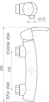 Смеситель Slezak RAV Volga VG180.5Z