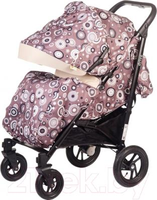 Детская прогулочная коляска Babyhit Drive (бежевые круги)