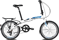 Велосипед Kross Flex 2.0 2016 (белый/синий/черный матовый) -