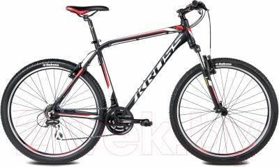 Велосипед Kross Hexagon R3 2016 (L, черный/белый/красный матовый)
