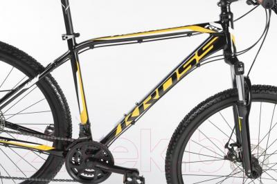 Велосипед Kross Hexagon R4 2016 (L, черный/оранжевый/белый глянец)