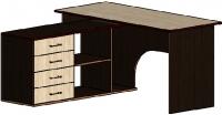 Компьютерный стол Мебель-Класс Мэдисон-1 (Венге/ясень Шимо светлый) -