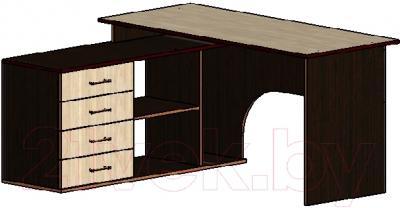 Письменный стол Мебель-Класс Мэдисон-1 (Венге/ясень Шимо светлый)