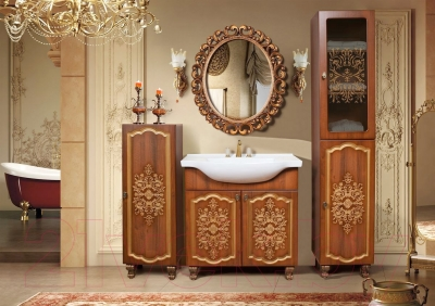 Шкаф-пенал для ванной Bliss Багира 2Д / 0465.3