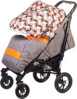 Детская прогулочная коляска Babyhit Drive (серый/оранжевый) -