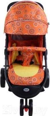 Детская прогулочная коляска Babyhit Trinity (оранжевый с кругами)