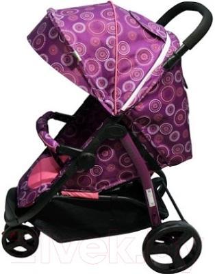 Детская прогулочная коляска Babyhit Trinity (фиолетовый с кругами)