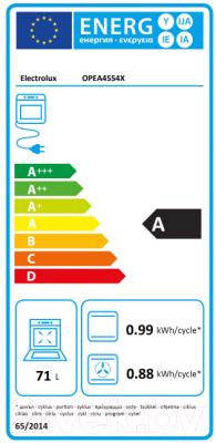 Электрический духовой шкаф Electrolux OPEA4554X