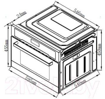Электрический духовой шкаф Zigmund & Shtain EN 101.922 S