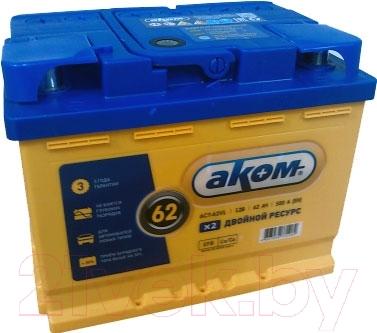 Автомобильный аккумулятор AKOM 6СТ-62 Евро EFB (62 А/ч)