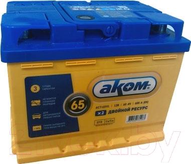 Автомобильный аккумулятор AKOM 6СТ-65 Евро EFB (65 А/ч)
