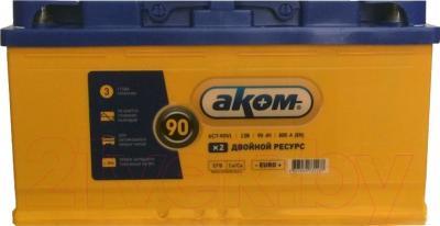Автомобильный аккумулятор AKOM 6СТ-90 Евро EFB (90 А/ч)