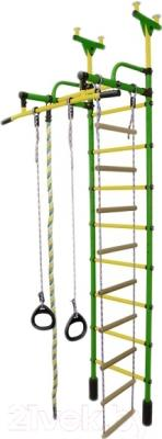 Детский спортивный комплекс Формула здоровья Жирафик-1А Плюс (зеленый/желтый)