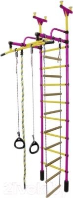 Детский спортивный комплекс Формула здоровья Жирафик-1А Плюс (фиолетовый/желтый)