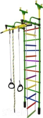 Детский спортивный комплекс Формула здоровья Жирафик-1А Плюс (зеленый/радуга)