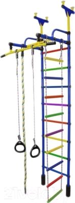 Детский спортивный комплекс Формула здоровья Жирафик-1А Плюс (синий/радуга)
