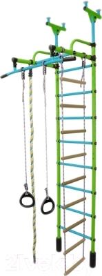 Детский спортивный комплекс Формула здоровья Жирафик-1А Плюс (салатовый/голубой)