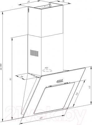 Вытяжка декоративная Pyramida NR 60 Black IX MU/U