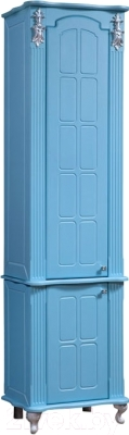 Шкаф-пенал для ванной Bliss Версаль 2Д / 0454.6 (голубой)