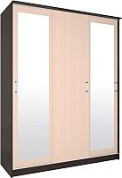 Шкаф Интерлиния Неаполь АН-012-17-02 (дуб венге/дуб молочный) -