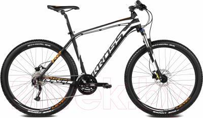 Велосипед Kross Level R2 2016 (M,черный/белый/оранжевый матовый)