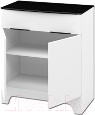 Тумба Мебель-Неман Верона МН-128-03 (белый глянец)