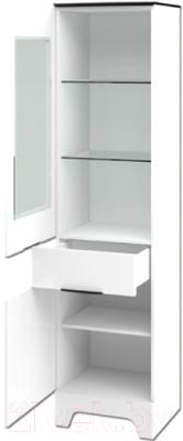Шкаф-пенал Мебель-Неман Верона МН-128-07 (белый глянец)