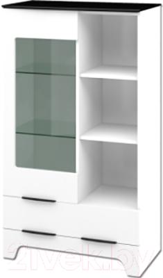 Шкаф Мебель-Неман Верона МН-128-12 (белый глянец)