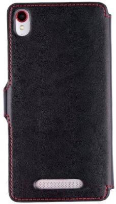 Чехол-книжка Senseit For E500 (черный, кожа)
